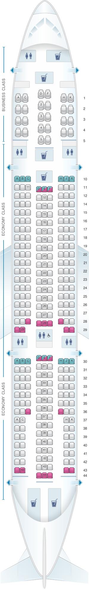 Plan De Cabine Corsair Airbus A330 200 Seatmaestro Fr