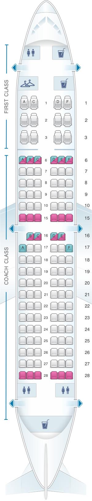Seat map for Alaska Airlines - Horizon Air Boeing B737 700