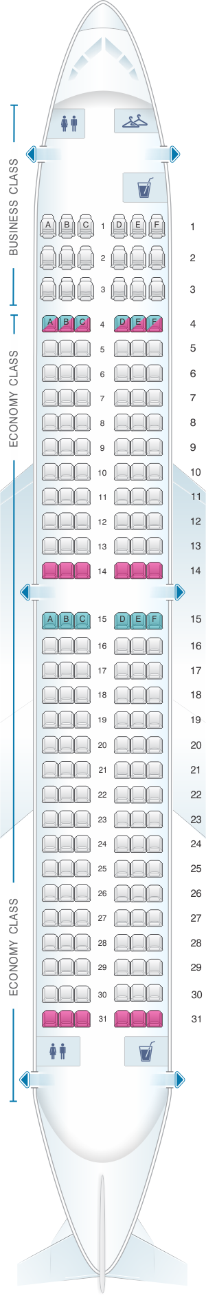 Seat map for Air Europa Boeing B737 800