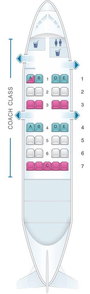 Seat map for Air Inuit Dash 8 100 29pax Combi