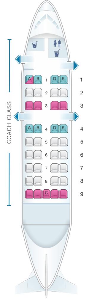 Seat map for Air Inuit Dash 8 100 37pax Combi