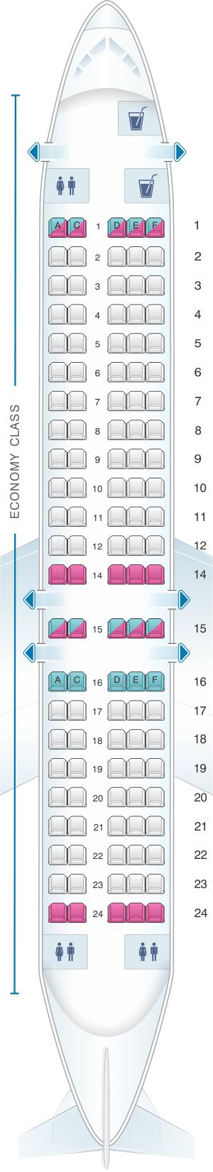 Plan De Cabine Blue1 Boeing B717 200 Seatmaestro Fr