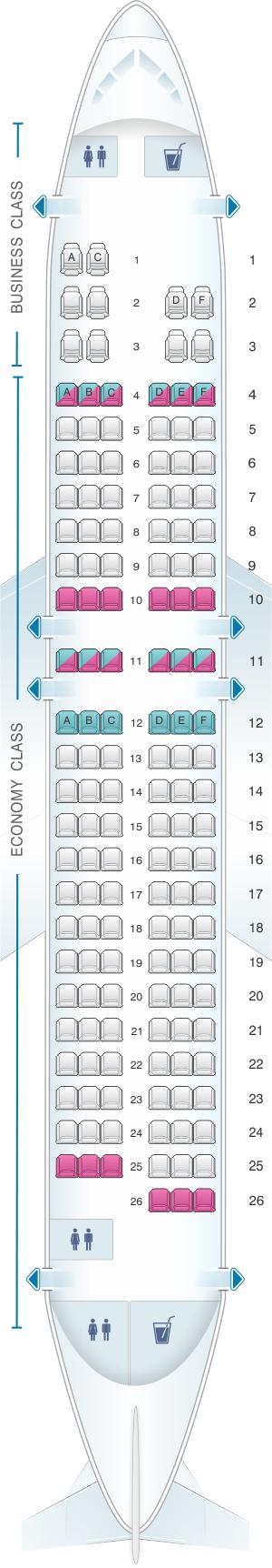 Plan De Cabine Egyptair Airbus A320 232 Seatmaestro Fr