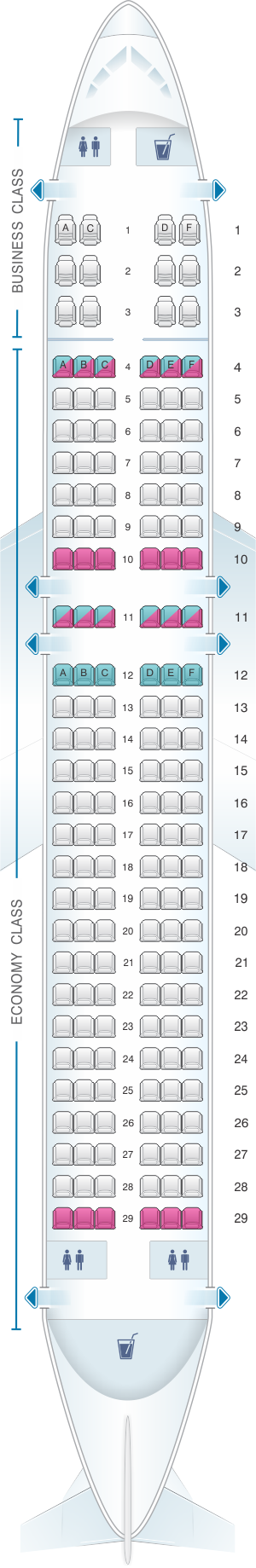 Plan De Cabine Brussels Airlines Airbus A320 Seatmaestro Fr