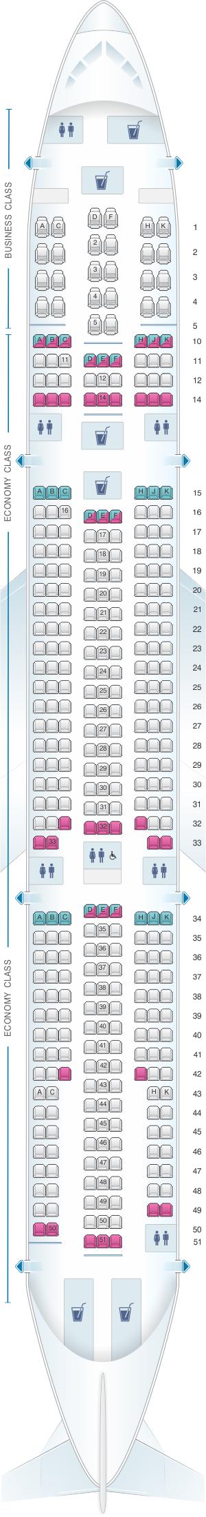 Plan de cabine corsair airbus a330 300 for Interieur 747 corsair