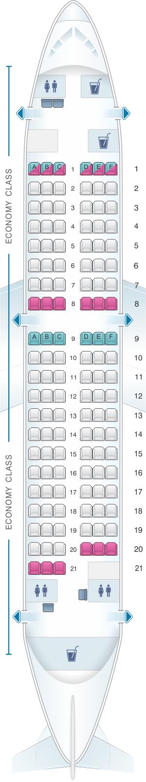 Plan De Cabine Finnair Airbus A319 Seatmaestro Fr