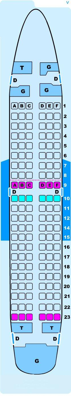 Seat map for Lauda Air Boeing B737 700