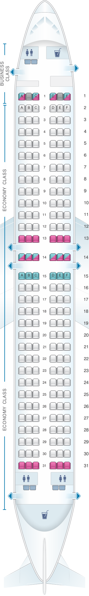 Seat map for airberlin Boeing B737 800