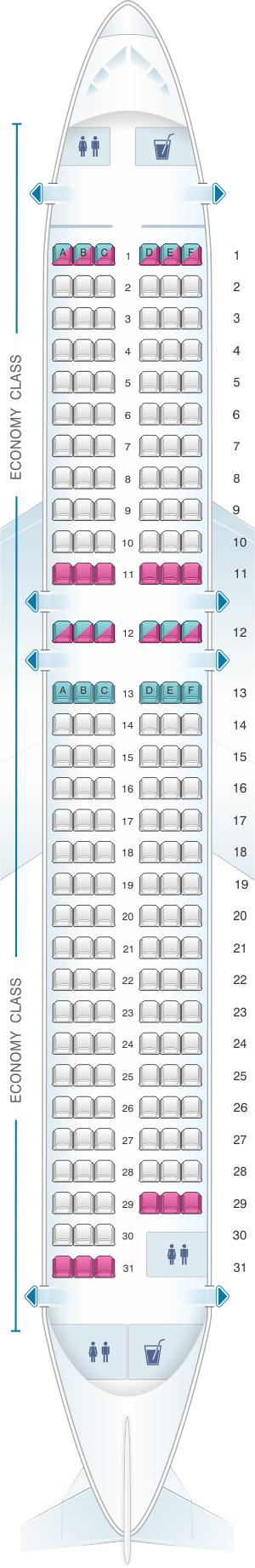 plan de cabine easyjet airbus a320. Black Bedroom Furniture Sets. Home Design Ideas