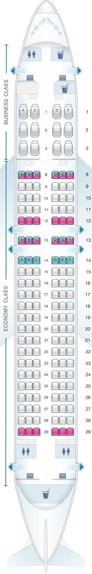 Plan de cabine qatar airways airbus a320 200 144pax for Plans de cabine gratuits