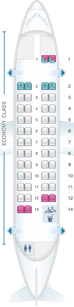Seat map for Air France ATR 42 500 V2
